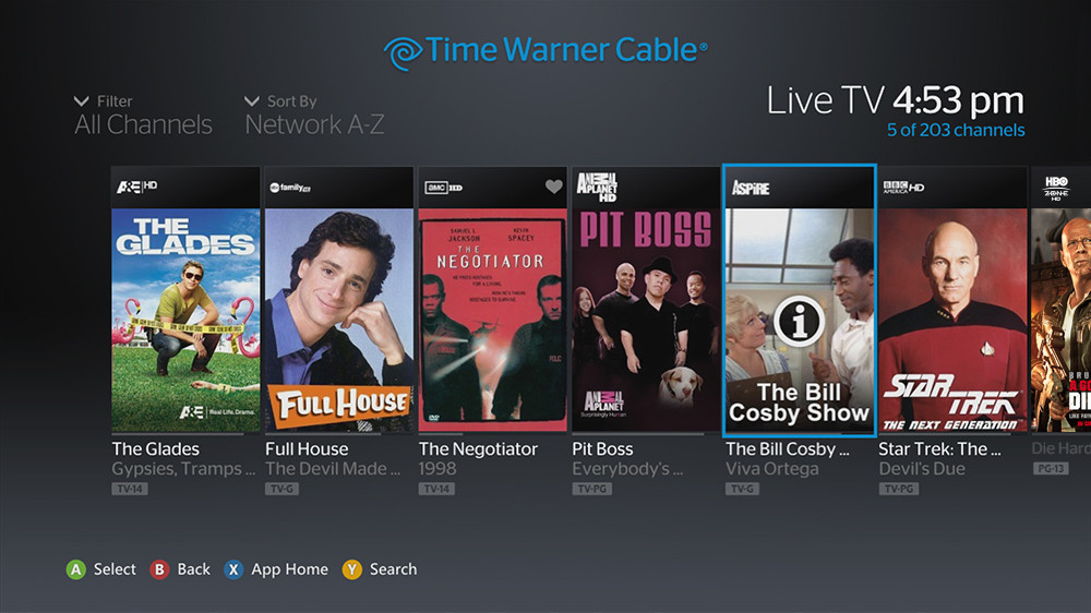 Time Warner Cable Launches Tv App For Xbox 360 With 300