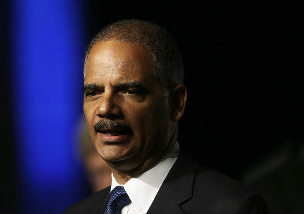 United States Attorney Gen. Eric Holder speaks to the American Bar Association Annual meeting in San Francisco. In remarks to the association, Holder said the Obama administration is calling for major changes to the nation's criminal justice system that would cut back the use of harsh sentences for certain drug-related crimes.