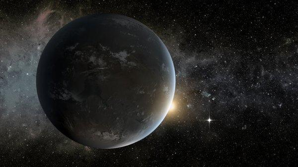 An artist's rendering shows a planet outside the solar system detected by NASA's Kepler spacecraft. The exoplanet-hunter's data has revealed a flickering code in starlight that helps pin down stars' sizes.