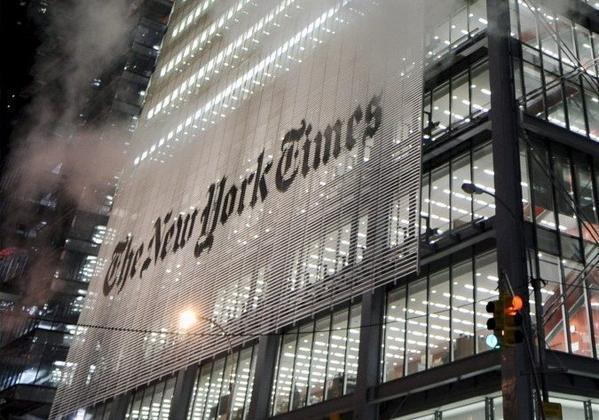 A view of the New York Times building in New York in December 2008. The newspaper reported Tuesday that hackers prevented visitors from reaching its website.
