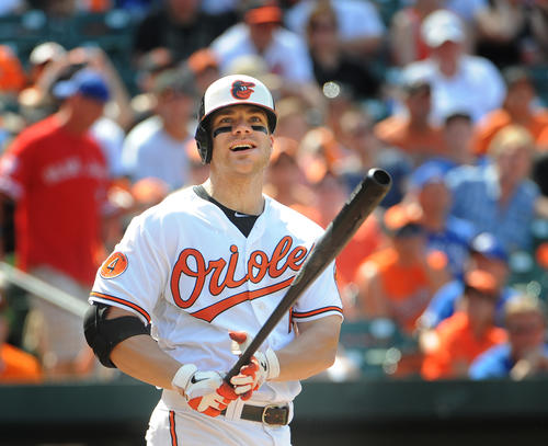 If someone can find any reason to mark this guy down, please write. He just tied the all-time record for home runs by the All-Star break and has 93 RBIs. Go back and see how many of the last 15 years that would have led the club for the entire season. Just to drive home the point, in the Orioles last 162 regular season games, Davis has 55 home runs and 135 RBIs. I considered creating an entirely new alphabet so I could come up with a higher letter grade, but this will have to do.<br>