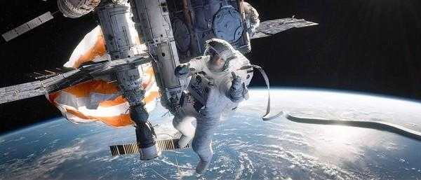 "Sandra Bullock in the movie ""Gravity."""
