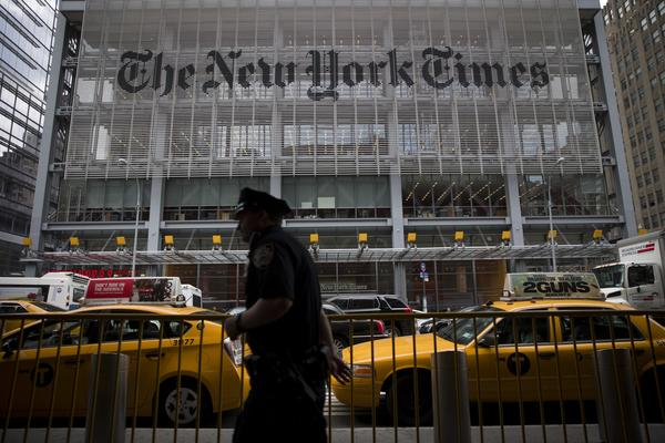 The New York Times Co. offices in New York City.