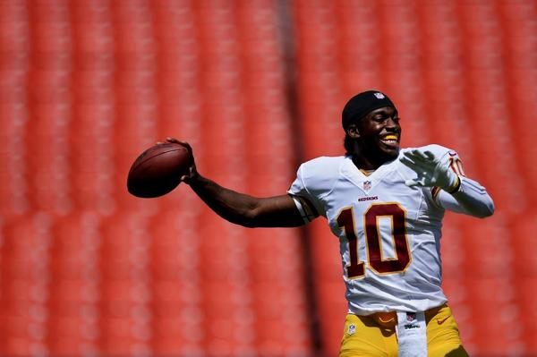 Reports from Redskins' practices say RG3 is looking like his old self again despite not playing in the preseason.