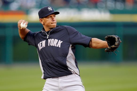 "New York Yankees third baseman Alex Rodriguez, who has not played this season while recovering from hip surgery, was <a href=""http://www.latimes.com/sports/la-sp-0806-mlb-drug-suspensions-20130806,0,2461642.story#axzz2bDreEfRP"" target=""new"">suspended until after the 2014 season</a> by Major League Baseball over allegations of use of performance-enhancing drugs. Rodriguez will be allowed to play while his"