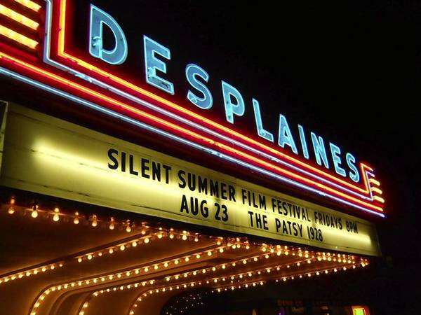 The Des Plaines Theatre recently hosted a silent film festival. The historic theater is facing a January deadline to comply with city codes.