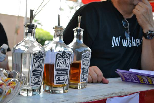 Copper Fiddle Distillery was on hand at Taste of the Towns to show off its bottles and promote the new Lake Zurich business. The distillery is expected to open this winter.