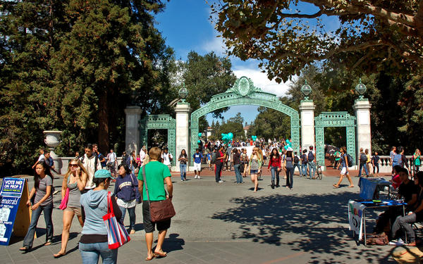 After a year-long investigation, the U.S. Department of Education dismissed Jewish students' complaints that anti-Israel protests at UC Berkeley created an illegally hostile and anti-Semitic atmosphere on the campus. Above, a file photo of Berkeley's landmark Sather Gate.