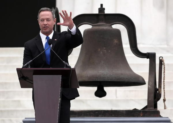 Maryland Gov. Martin O'Malley speaks during the Let Freedom Ring ceremony at the Lincoln Memorial August 28, 2013