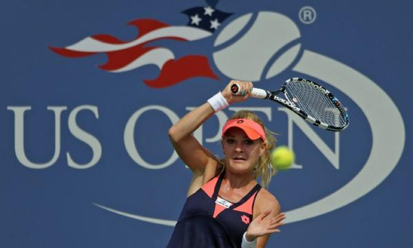 Agnieszka Radwanska advanced to the third round at the U.S. Open on Wednesday.