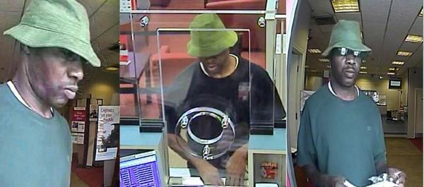 Surveillance photo of man being sought by the FBI in connection with the robbery Wednesday of a Bank of American branch in Pembroke Pines.