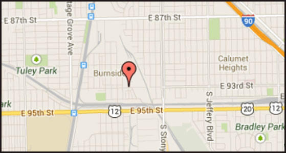 Map of location where a man was severely injured and killed in a work-related accident in the city's Burnside neighborhood.
