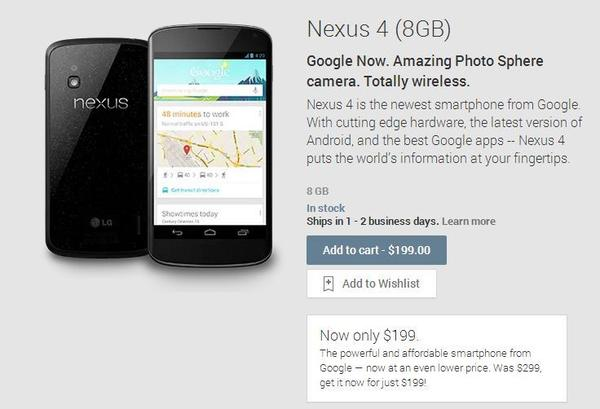 Google this week cut the price of its Nexus 4 smartphone, whose lack of LTE technology makes it inferior to many other devices.