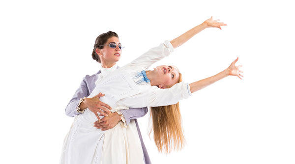 """A Light in the Dark"" features Thodos Dance Chicago ensemble members Jessica Miller Tomlinson as Helen Keller and Alissa Tollefson as Anne Sullivan."