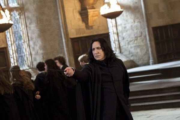 "Alan Rickman plays professor Severus Snape in the Warner Bros. Pictures movie ""Harry Potter and the Deathly Hallows, Part 2."" The movie was among the films illegally downloaded via the Hotfile website, according to the MPAA."