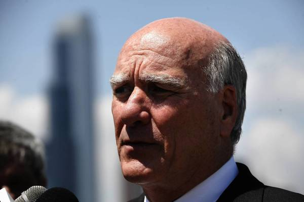 Bill Daley, shown at a news conference last month, on Thursday criticized Gov. Pat Quinn — his Democratic campaign rival — for appointing Thornton Township Supervisor Frank Zuccarelli to the CTA board.