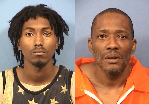 Dennis Clark (left) and Christopher Nesbit have been charged in connection to an armed robbery at a Naperville Radio Shack.
