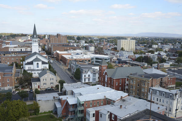 Downtown Hagerstown is shown in a recent Herald-Mail photo. A list on a news and opinion website that ranked Hagerstown among the 15 worst cities to have a baby is rankling local leaders, who called the survey flawed and meaningless.