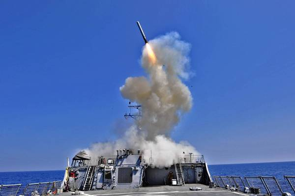 The Barry is one of four U.S. guided-missile destroyers now in the eastern Mediterranean for a possible strike on Syria. It carries up to 90 cruise missiles.