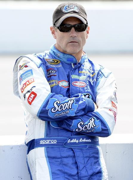 Bobby Labonte will miss Sunday's Sprint Cup race after breaking three ribs in a cycling accident.