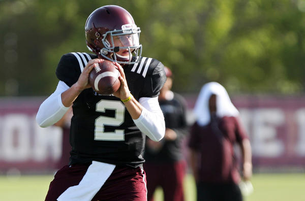 Texas A&M quarterback Johnny Manziel has been in the news more than he'd like.