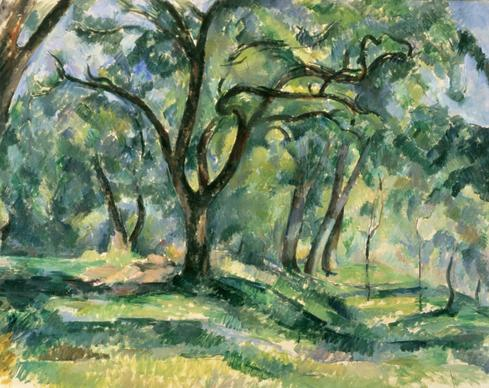 "Paul Cézanne's ""The Forest,"" from 1890-92, is a sterling example of the artist's mature Postimpressionist style. It is one of eight paintings that Charles A. Loeser, heir to a Brooklyn department store fortune, bequeathed to the White House in 1928. Along the way, however, the paintings were diverted. Images of the other paintings follow; they can be further studied at <a href=""http://www.whitehousehistory.org"">www.whitehousehistory.org</a>."