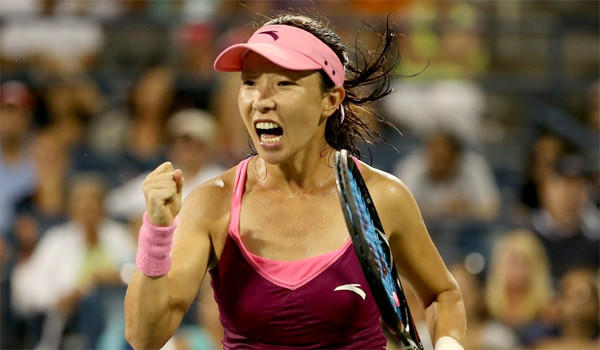 Zheng Jie of China celebrates during her 6-3, 2-6, 7-6 (5) victory over Venus Williams during the second round of the U.S. Open on Wednesday.