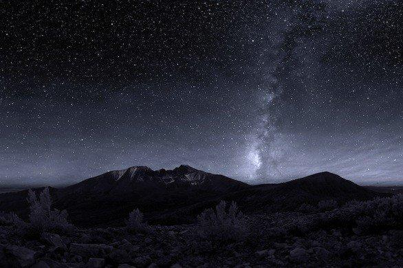 The Milky Way over Wheeler Peak at Great Basin National Park in Nevada.