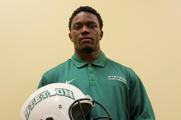 Former Clermont East Ridge running back Jerami Singleton is glad to be aboard Stetson's football relaunch.