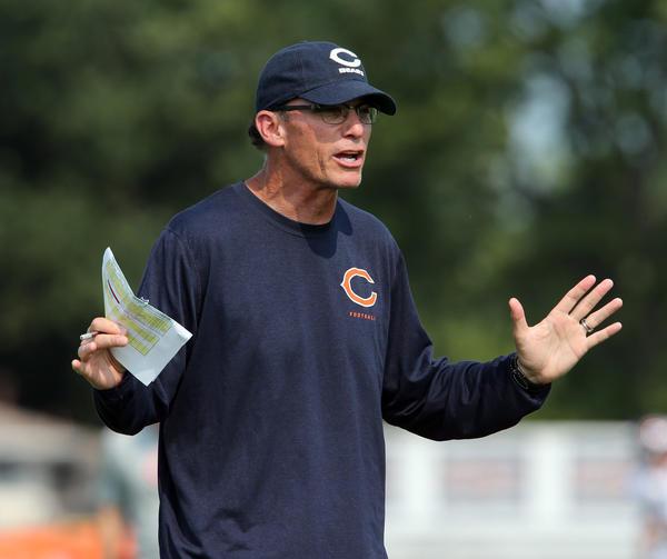 Bears coach Marc Trestman directs a recent practice.