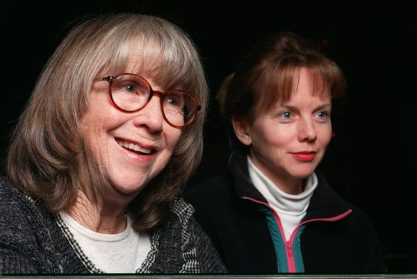 "Julie Harris, left, and Linda Purl talk about Athol Fugard's ""The Road to Mecca"" at Long Wharf Theater in New Haven in 1996."