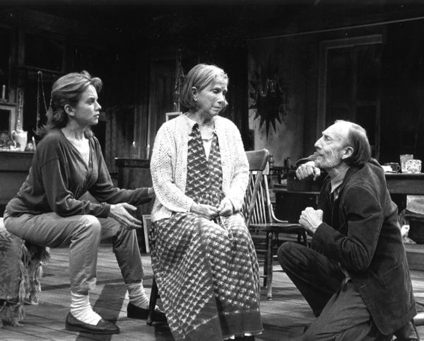 Linda Purl, Julie Harris and Tom Aldredge in 'The Road to Mecca' at Long Wharf Theatre.