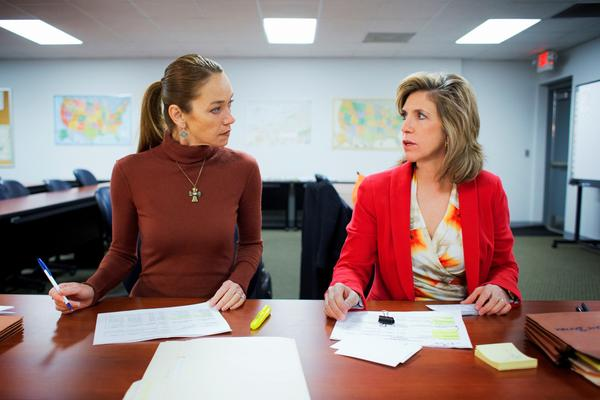 "Yolanda McClary, left, and Kelly Siegler in a scene from TNT's ""Cold Justice."""