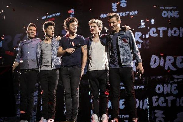 """""""One Direction: This Is Us"""" is a concert documentary that follows Liam Payne, left, Zayn Malik, Harry Styles, Niall Horan and Louis Tomlinson."""