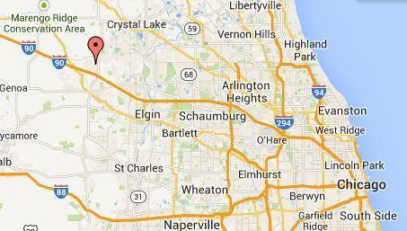 Deer Path in northwest suburban Huntley was evacuated, according to an emergency dispatcher.