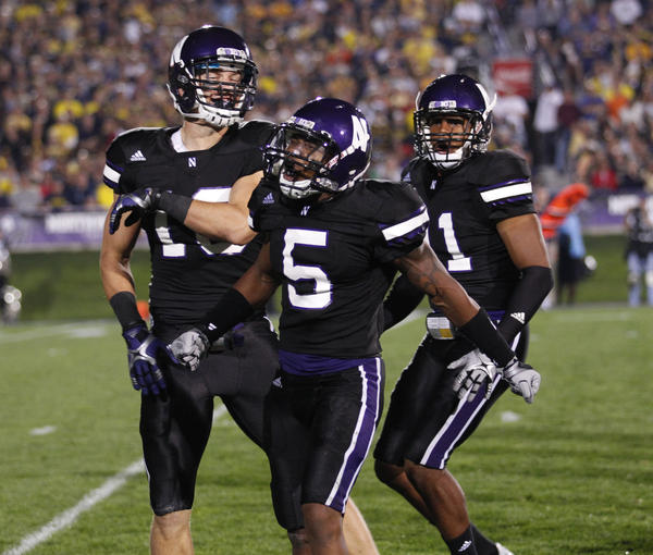 Northwestern receiver Venric Mark (center) and the Wildcats have high hopes this season. They should be a blast to watch.