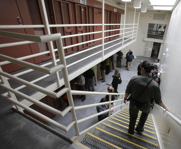 Pelican Bay State Prison near Crescent City, Calif. A state panel approved $315 million to reduce prison overcrowding. Many prisoners will be transferred to other facilities including out-of-state private prisons and county jails.