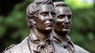 A statue of Joseph Smith Jr. in Nauvoo, Illinois.