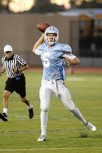 Luke Napolitano leads Corona del Mar High as its quarterback. The Sea Kings open the season Friday night against Pacifica at Davidson Field.