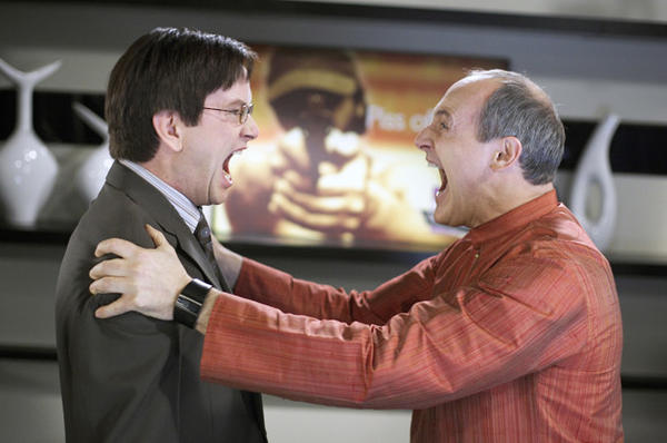 Mark McKinney (L) as as Richard Smith-Jones and Colm Feore as Sanjay Rainier in