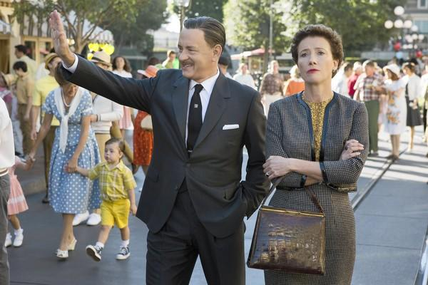 "Tom Hanks is Walt Disney and Emma Thompson is ""Mary Poppins"" author P.L. Travers in ""Saving Mr. Banks."""