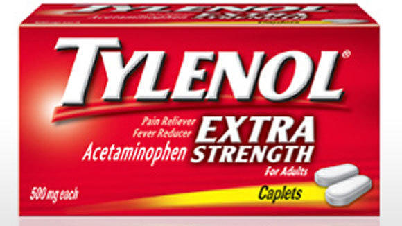 A box of Extra-Strength Tylenol caplets.