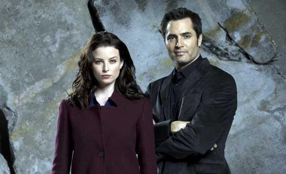 "Rachel Nichols  and Victor Webster in ""Continuum"" on Syfy."