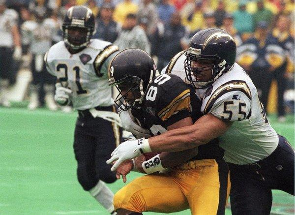 Junior Seau, shown playing for the San Diego Chargers in 1995, committed suicide last year after a long history of concussions. Seau's family is among the plaintiffs in a lawsuit that resulted in a proposed settlement with the NFL. The settlement reflects a shortage of evidence definitively linking concussion and later depression, dementia and suicide.