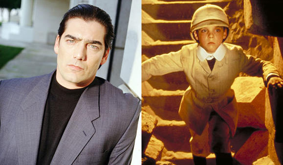 "Ken Wahl in ""Wiseguy,"" left, and Corey Carrier in ""The Adventures of Young Indiana Jones."""