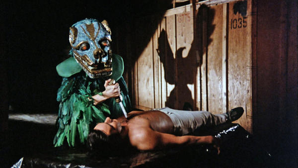 """A scene from 1982's """"Q - The Winged Serpent,"""" a low-budget genre film directed by Larry Cohen, now released on Blu-ray."""