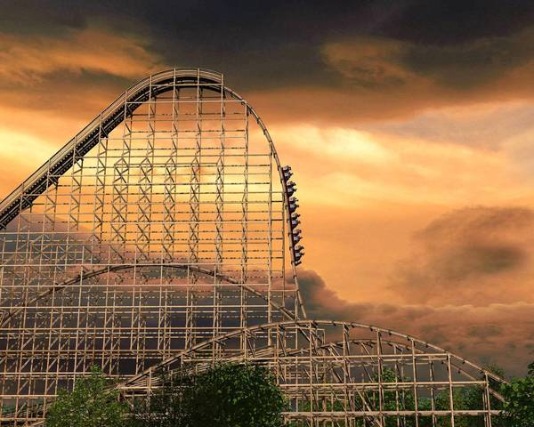 An artist's rendering of Six Flags Great America's proposed Goliath roller coaster.