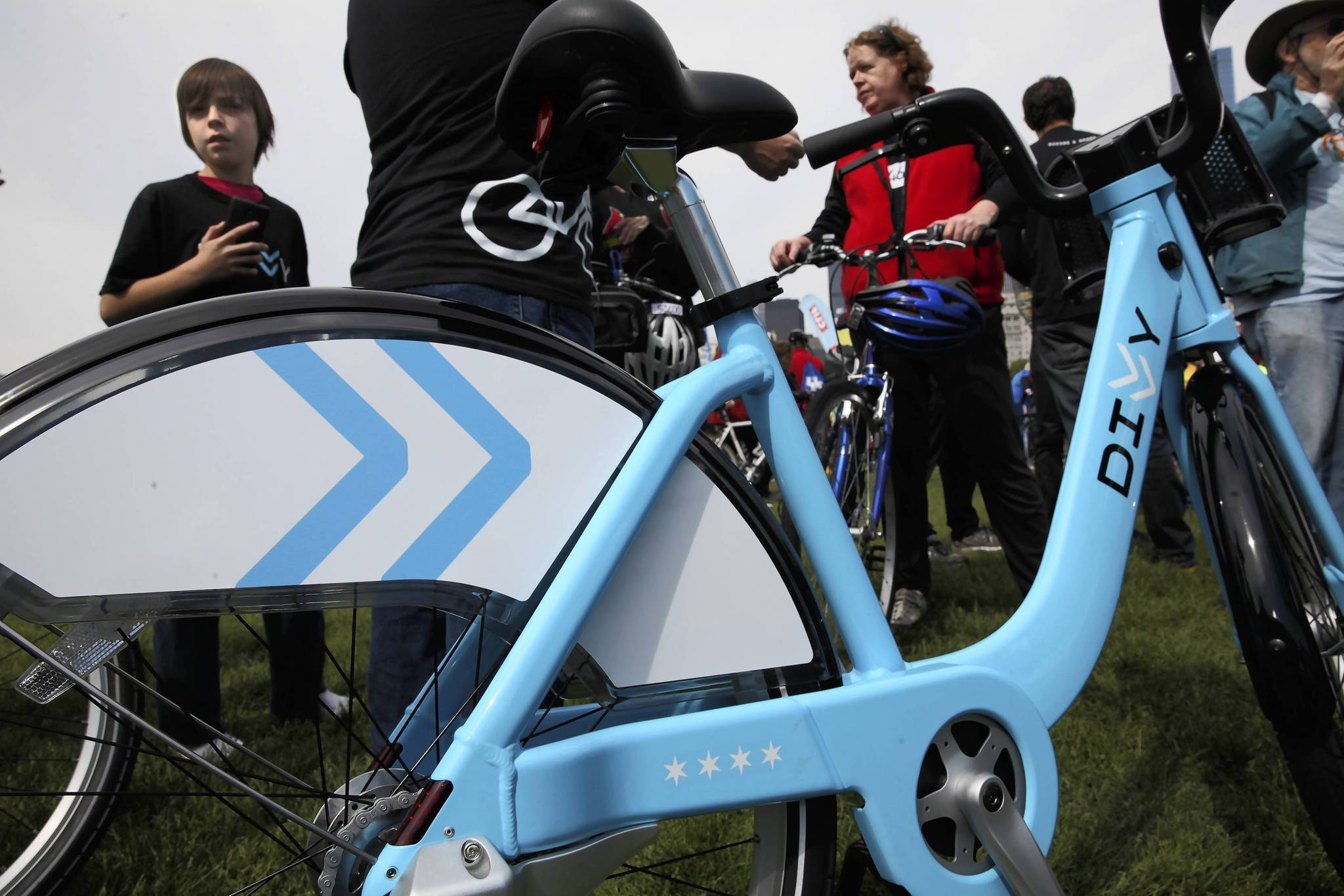 A Divvy bike is shown at Bike The Drive in May.