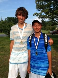 Petoskey's Connor Allen (left) was a runner-up at No. 2 singles, while Nico Ceniza was the No. 1 singles flight champion Thursday at the Up North Invitational in Traverse City.