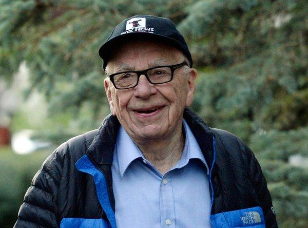 Rupert Murdoch at the Allen & Co. annual conference in Sun Valley, Idaho.